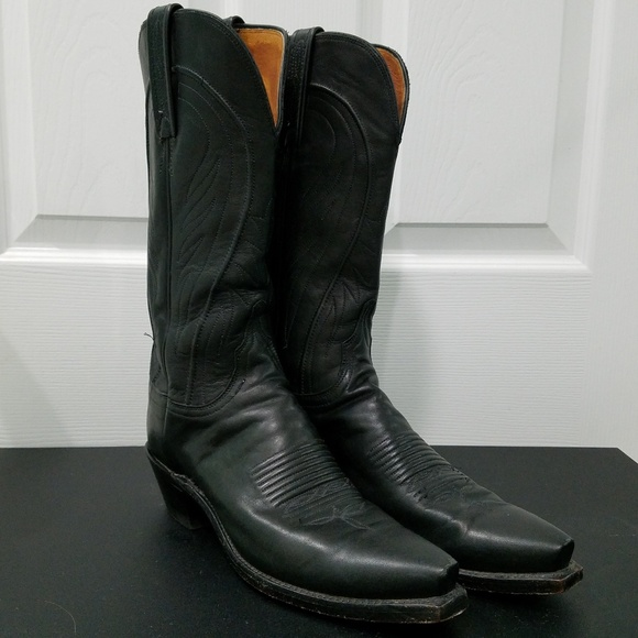 ae471ec1e1a 1883 by Lucchese Black Leather Women's Cowboy Boot